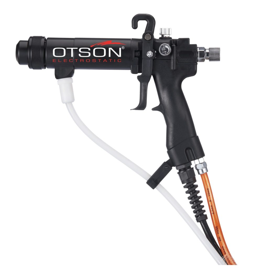 OTS 3000 Plus Manual liquid electrostatic spray gun - Round FRP Nozzles-G2