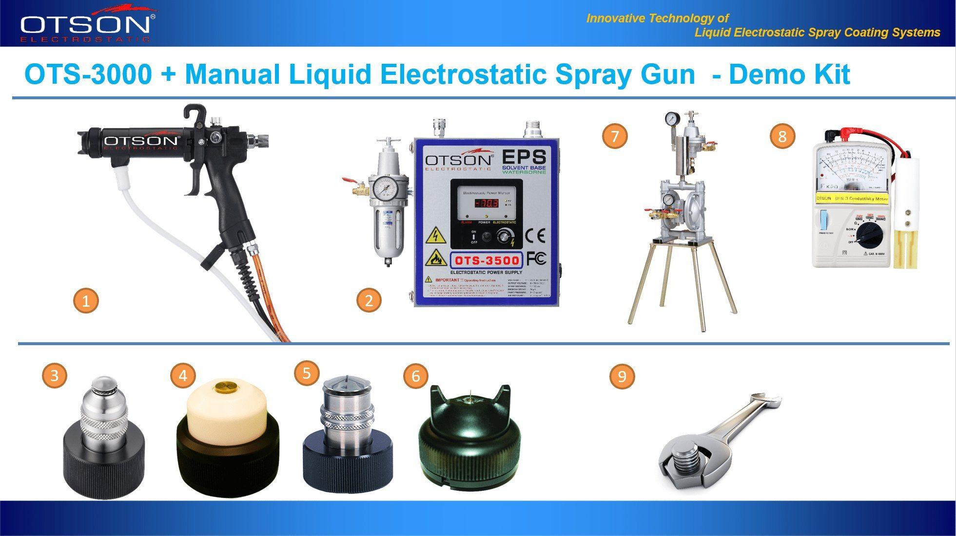 electrostatic spray gun demo kit