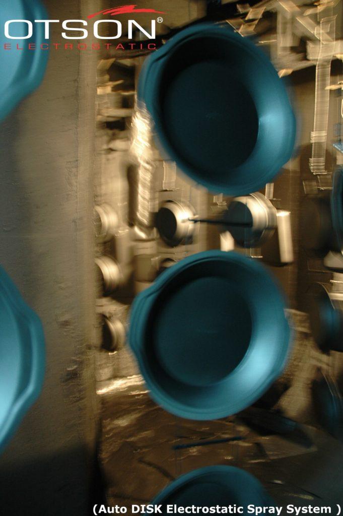 Teflon Pot and Plate- Auto Disk Electrostatic Spray System – OTSON
