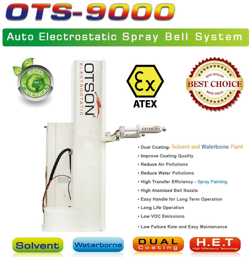 OTS-9000_auto_electrostatic_spary_bell_system