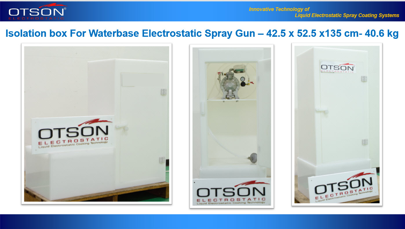 Isolation box For Waterbase Electrostatic Spray Gun