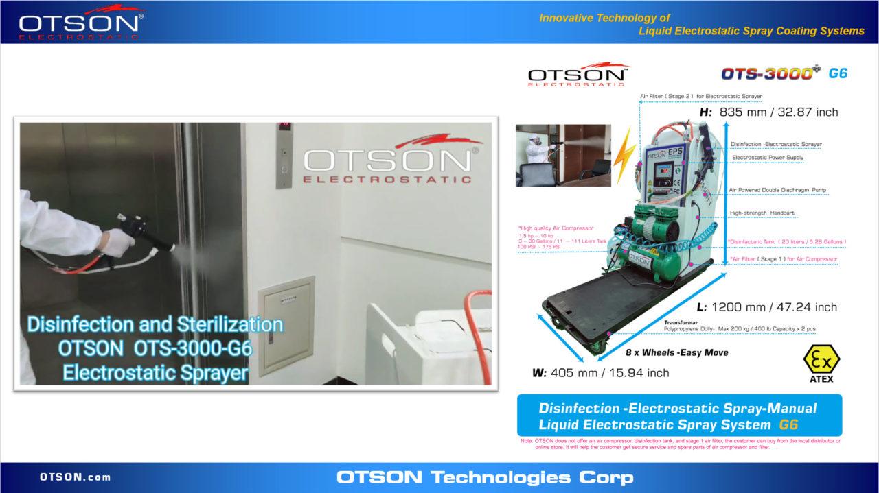 Disinfection -Electrostatic Spray-Manual Liquid Electrostatic Sprayer
